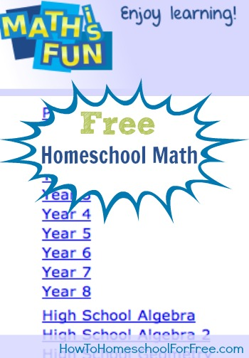 Free Homeschool Math Curriculum: Maths is Fun