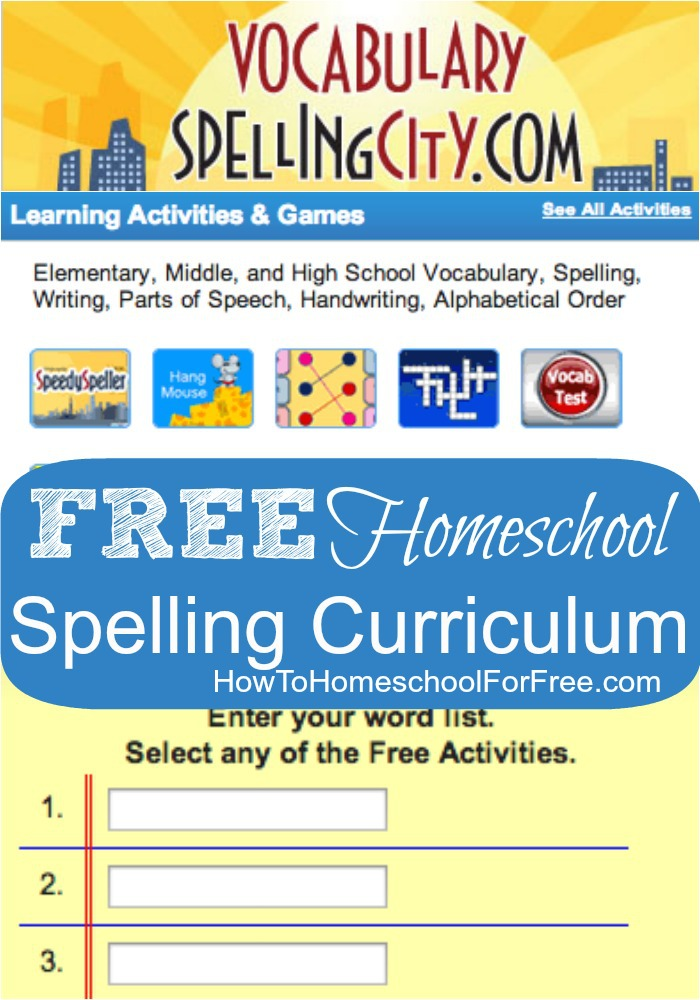 Get a FREE Complete Spelling curriculum online with Spelling City!!