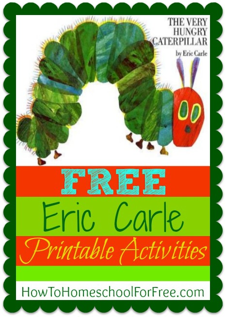 FUN and FREE Ericl Carle printable activity sheets!