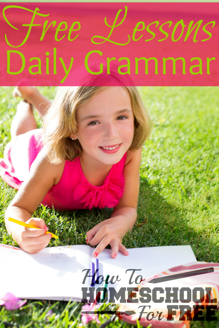 Here's a great way for your kids to learn grammar for FREE with these daily online lessons!