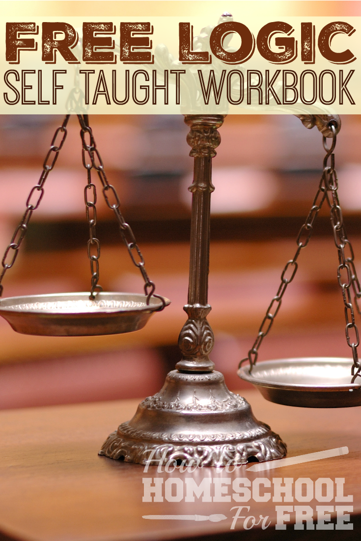 Your student can learn logic on their own with this FREE teach yourself workbook!
