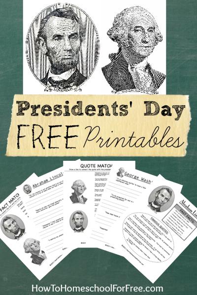 FREE Presidents Day Printables!