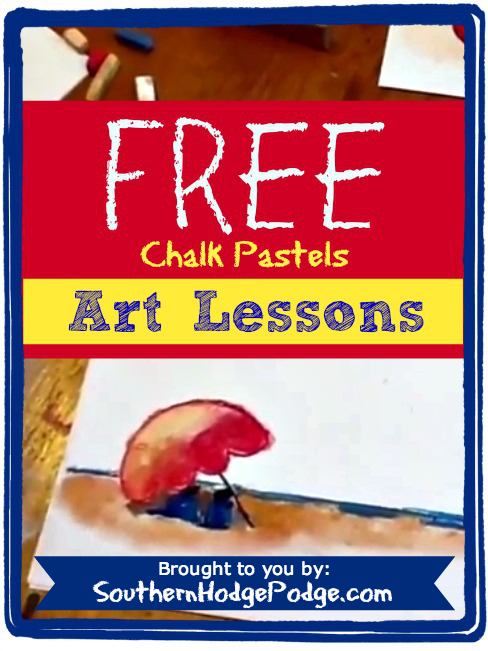 FREE art lessons in chalk pastels from Southern Hodge Podge! She makes it so easy!