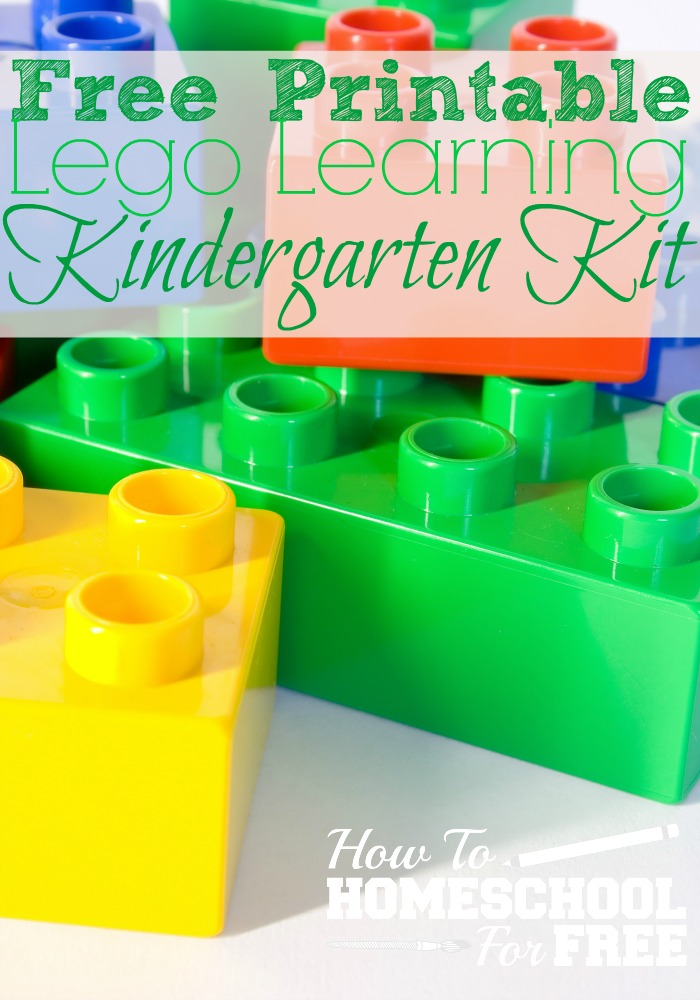 Check out this FREE Lego Learning Kit for Kindergarteners!