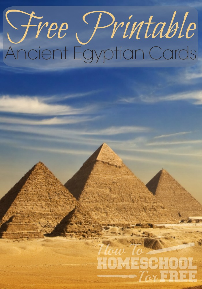 Studying Ancient Egypt? Print out these FREE Ancient Egyptian cards to help!