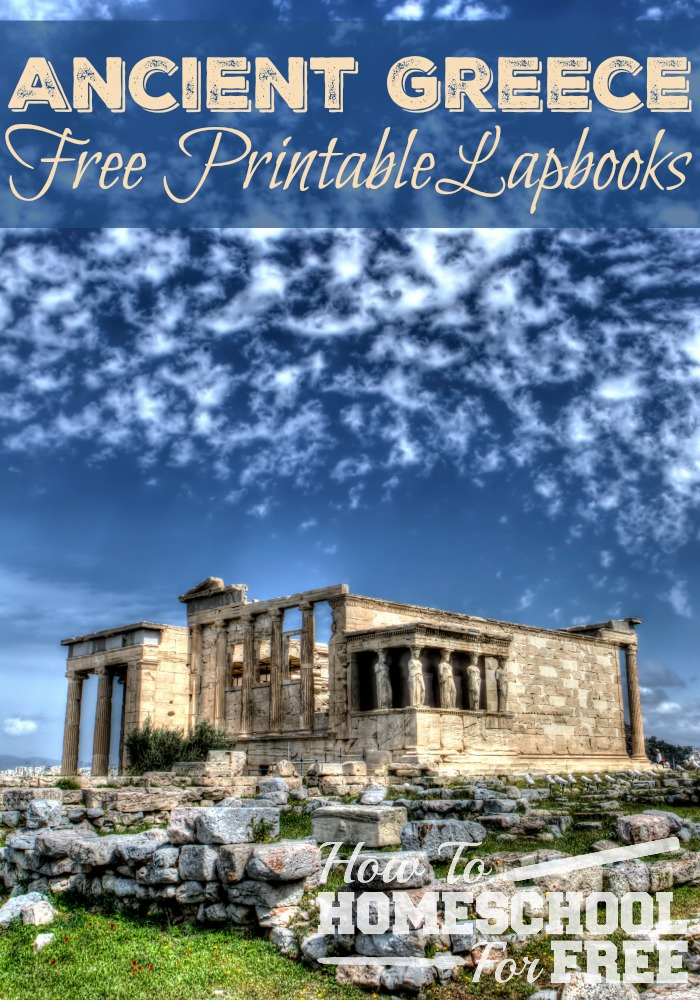 Want to make Greek history more interesting and fun? Print these TWO Free Ancient Greece Lapbooks!