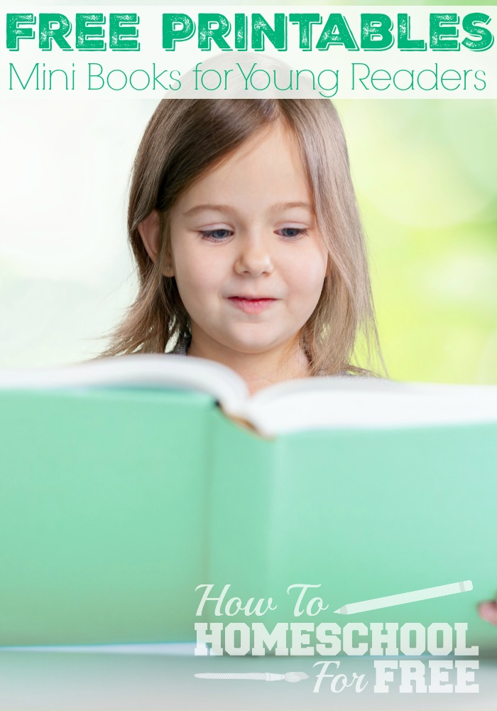 Print LOTS of fun mini-books for young readers for FREE!